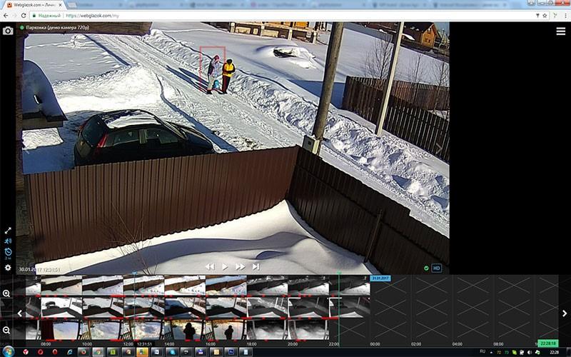 Облачная съёмка посредством WebGlazok