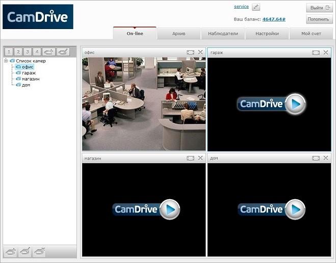 Функционал CamDrive