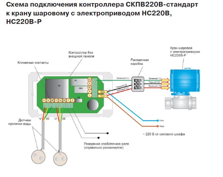 простая электросхема для установки