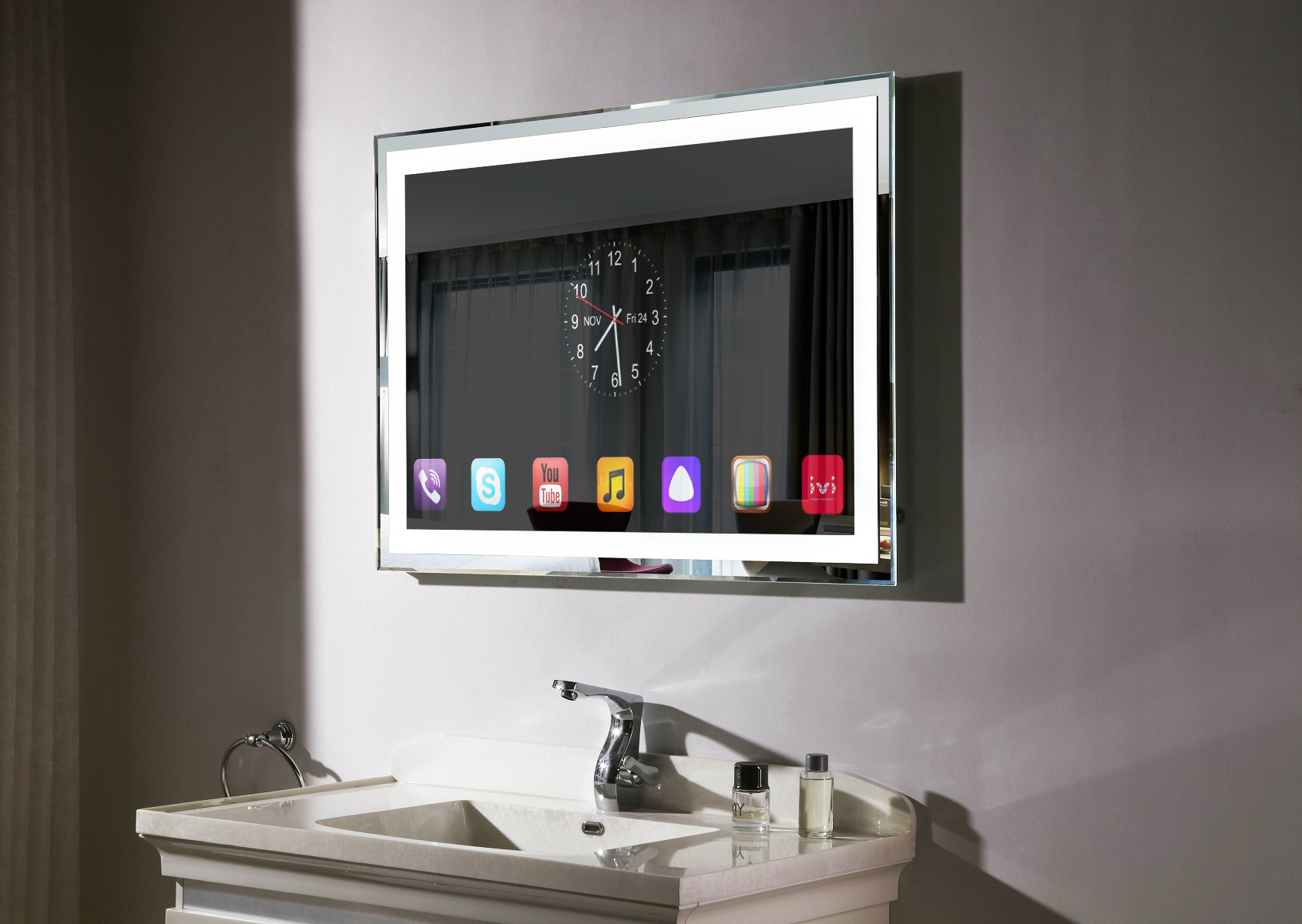 Умное зеркало в ванной