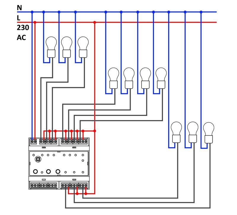 Принципиальная схема подключения силового модуля