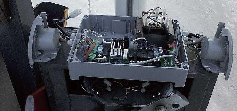 Силовая установка автоматического шлагбаума