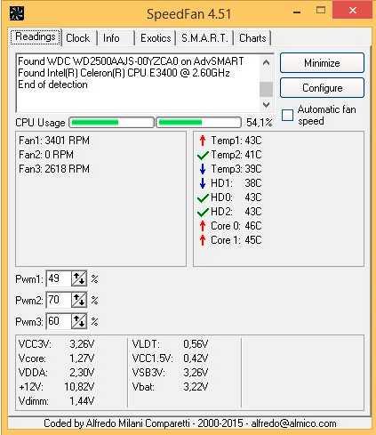 Программное охлаждение ноутбука