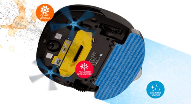 Робот пылесос комбинированного типа