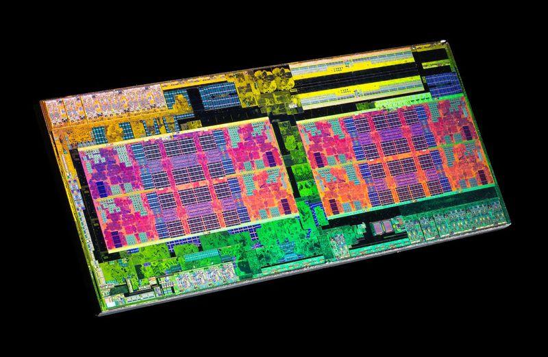 Кристаллы ЦП в разрезе под микроскопом