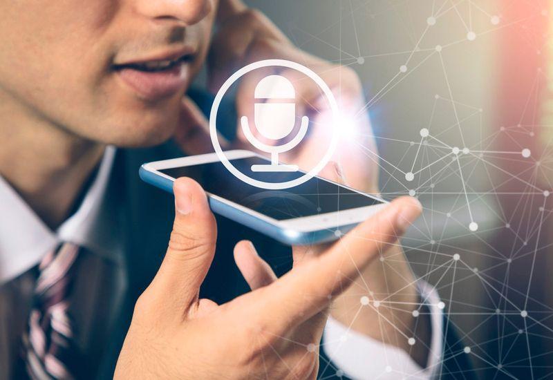 Управление голосом с помощью смартфона