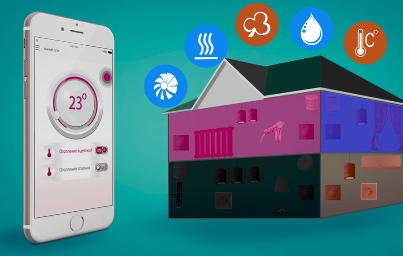 Общие принципы системы отопления в умном доме