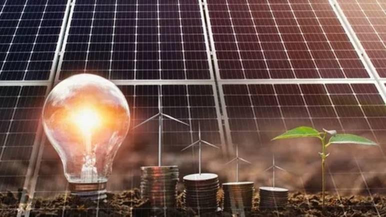 Один из рекламных щитов экологической энергетики