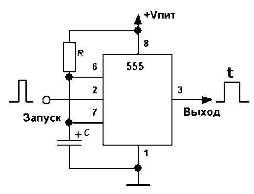 Схема одновибратора