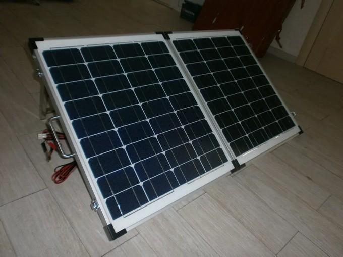 Солнечная батарея в каркасе